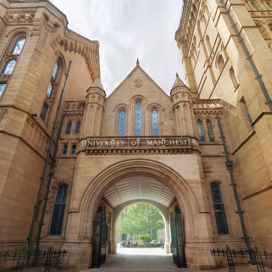 The entrance of the University of Manchester. Image via YouTube.