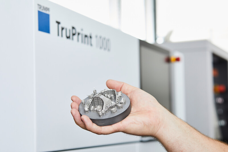 A metal part made with TruPrint 1000. Image via Trumpf.