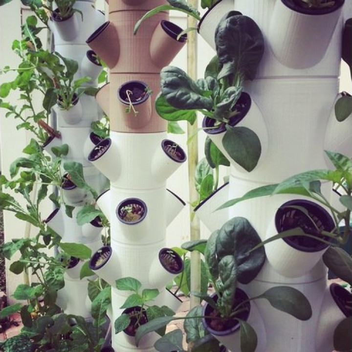 The Modular Hydroponic Garden/Farm System. Photo via MyMiniFactory/Alex Rodriguez.