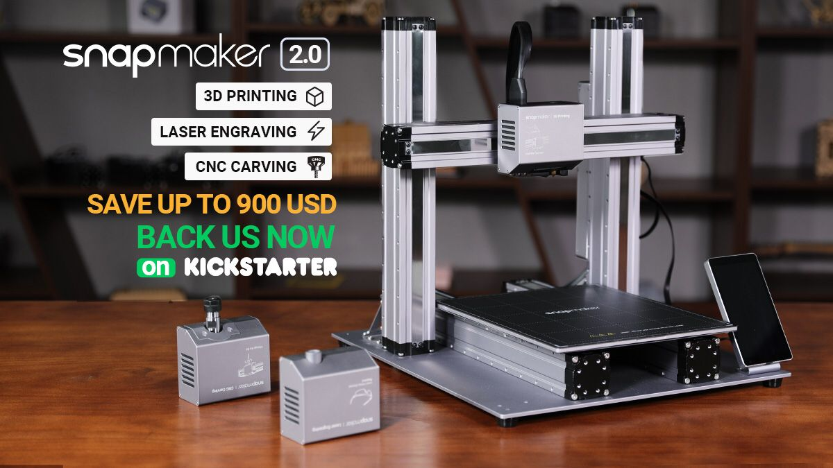 Snapmaker 2.0 Kickstarter Raises $3.5 Million For 3-in-1
