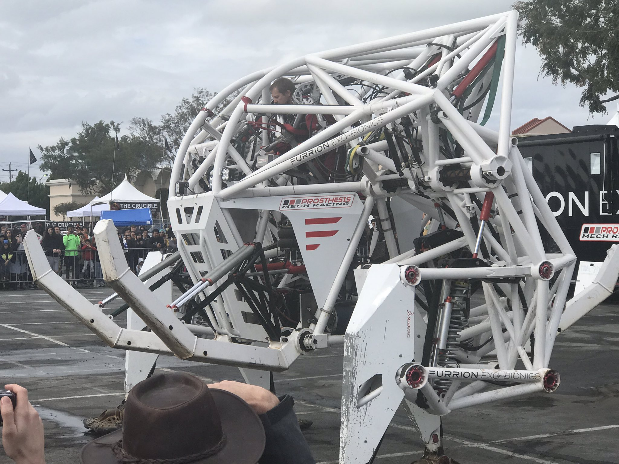 A gigantic mecha called Prosthesis, one of the highlights of this year's Maker Faire Bay Area. Image via Maker Faire/Twitter.