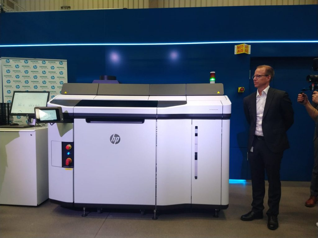 Official unveiling of the new HP Jet Fusion 5200 series of 3D printers at Siemens in Erlanger, Germany. Photo by Anas Essop