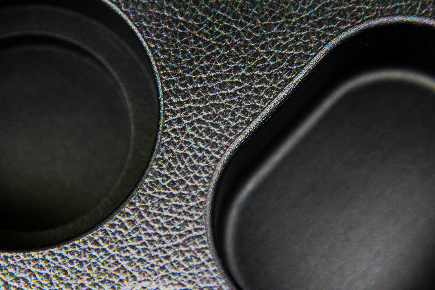 The Automotive BlackX applied to a 3D printed interior car part. Image via DyeMansion.