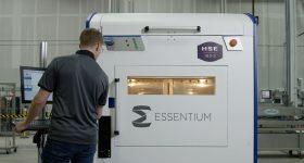 Essentium's High-Speed Extrusion (HSE) 3D printer. Photo via Essentium.