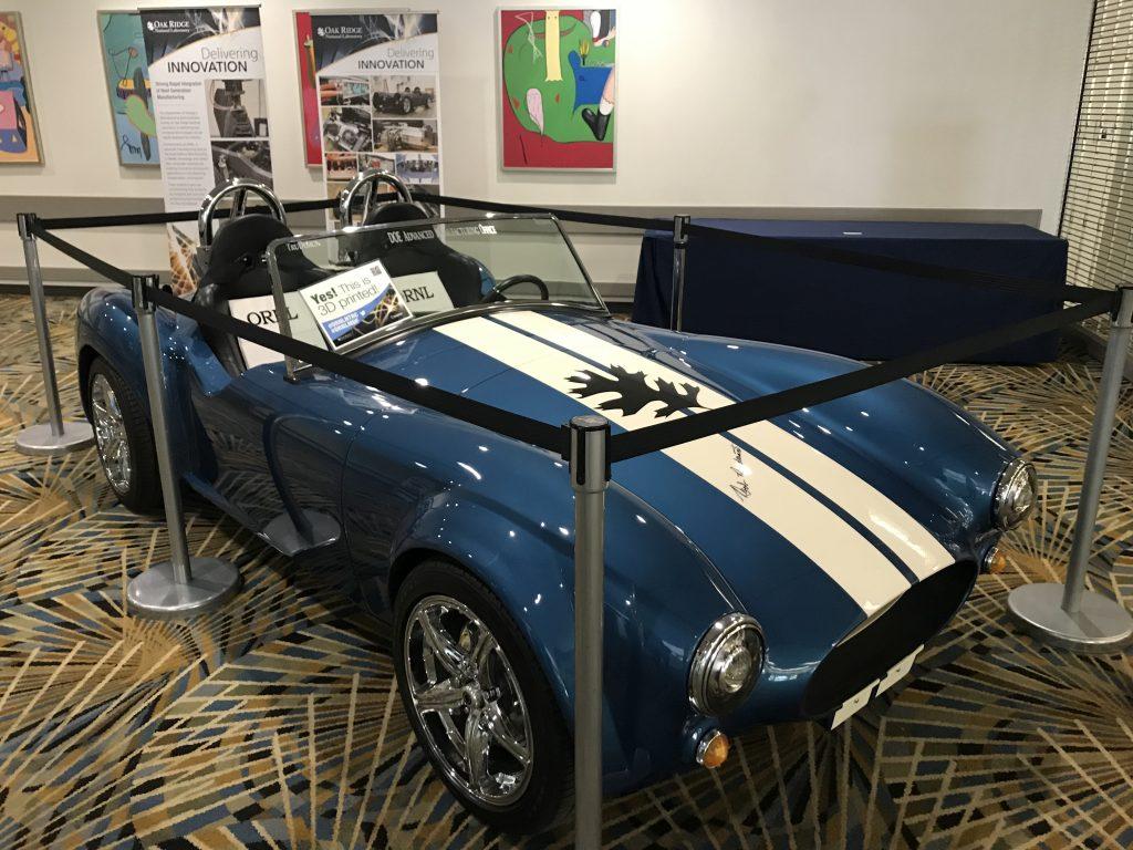 ORNL's BAAM 3D printed Shelby Cobra. Photo by Beau Jackson