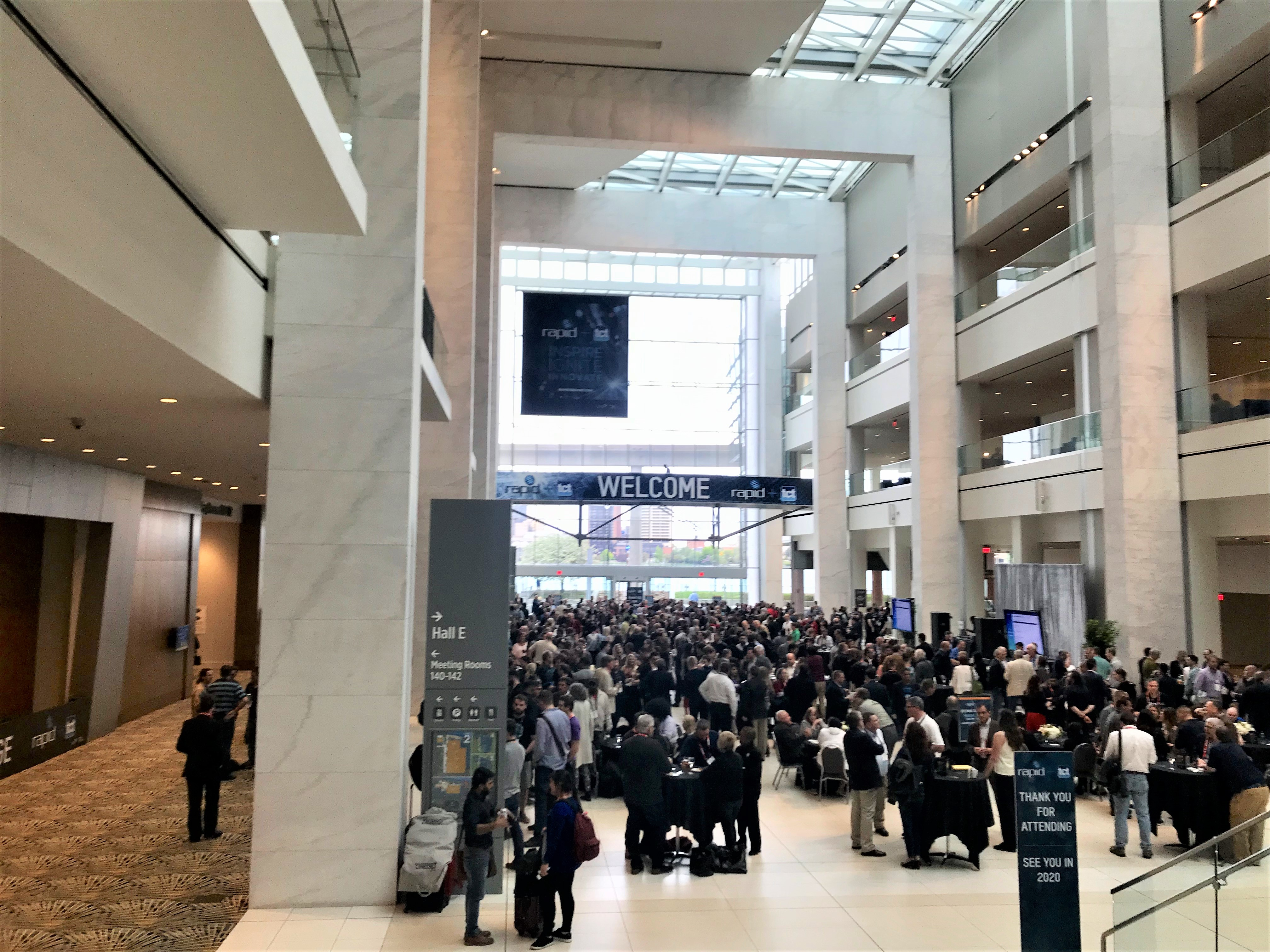 Networking event on the first evening of RAPID + TCT 2019. Photo by Beau Jackson