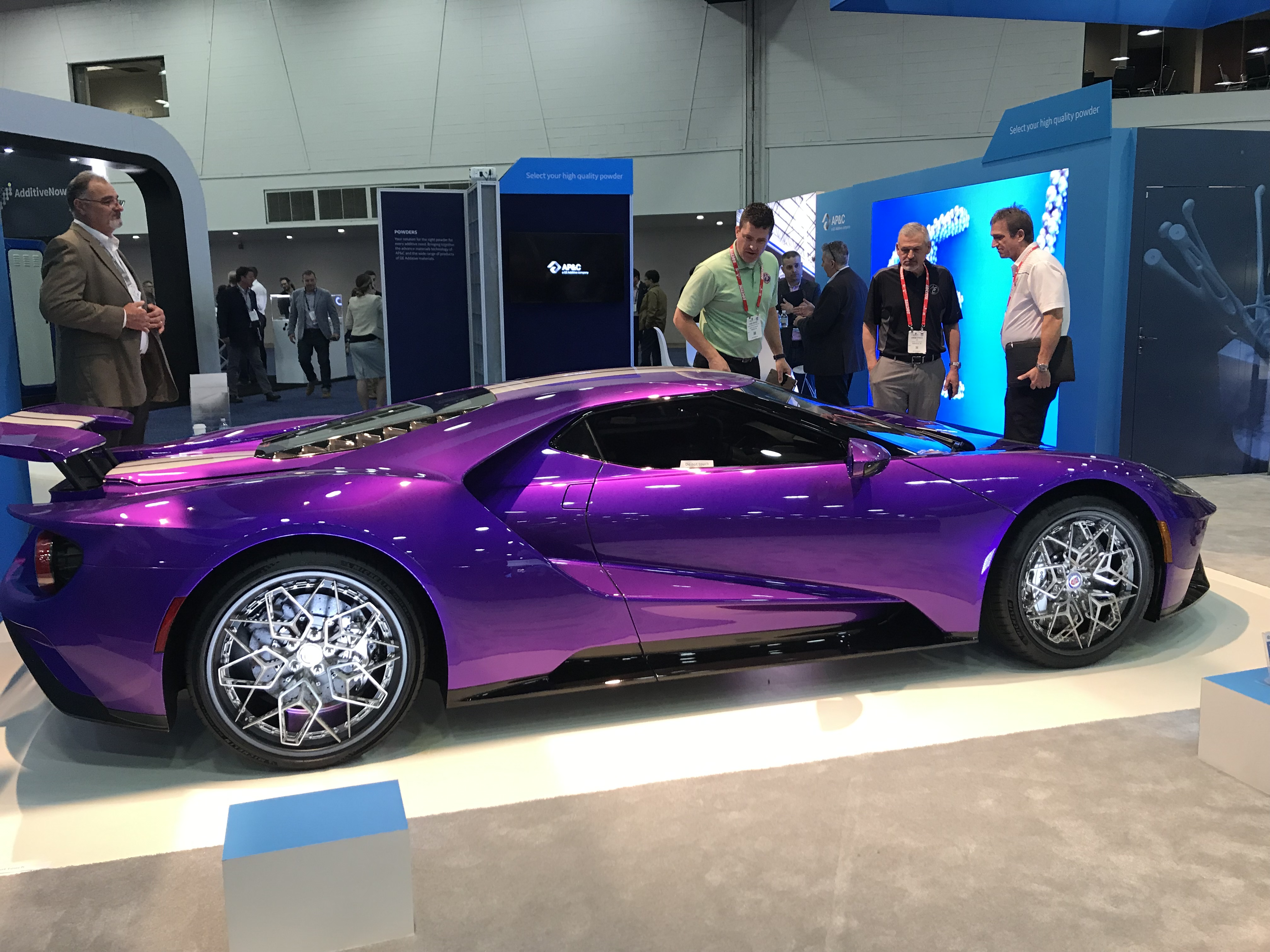 Purple Ford GT fitted with HRE Wheels at 2019 RAPID + TCT. Photo courtesy of Beau Jackson.