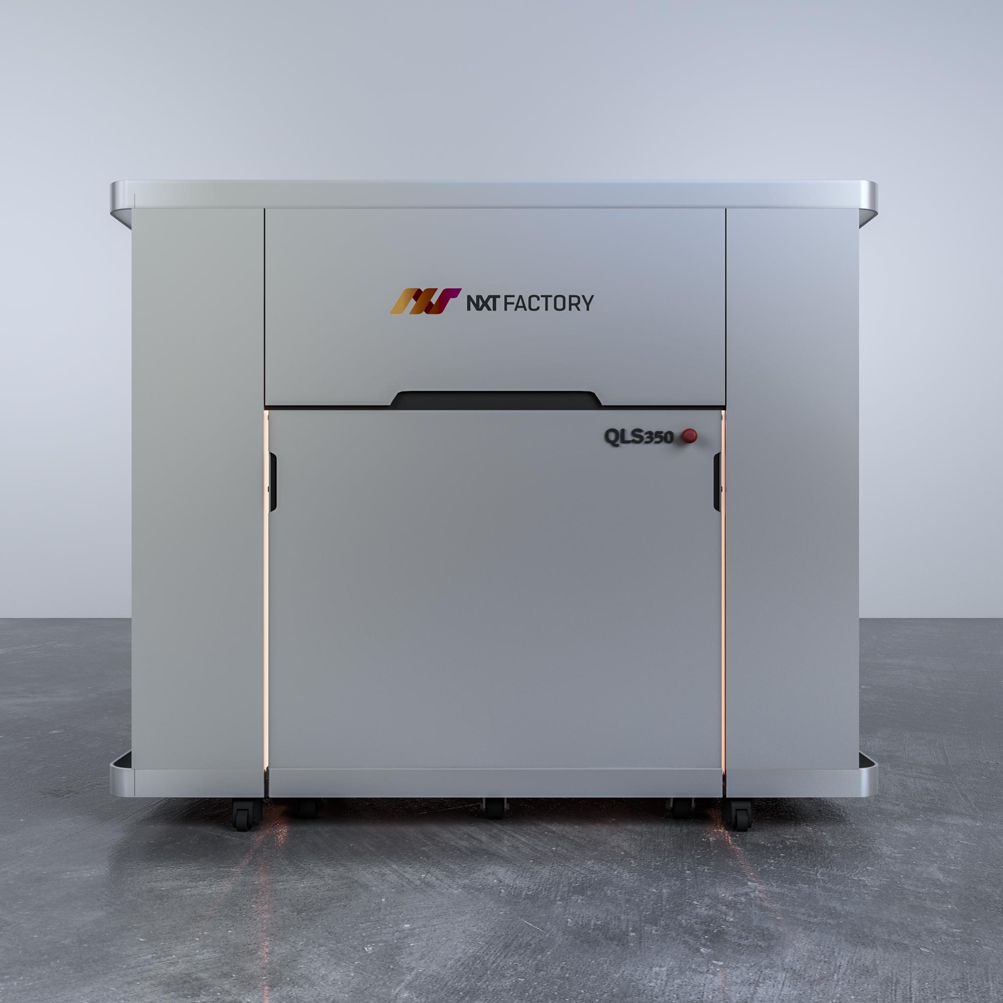 The QLS 350 3D printer. Photo via NXT Factory.