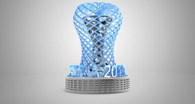 Optim trophy by Ferran Sánchez Monferrer for the 2019 3D Printing Industry Awards.