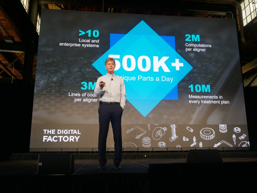 Joseph Hogan, CEO of Align Technologies at the Digital Factory Conference. Photo by Tia Vialva.