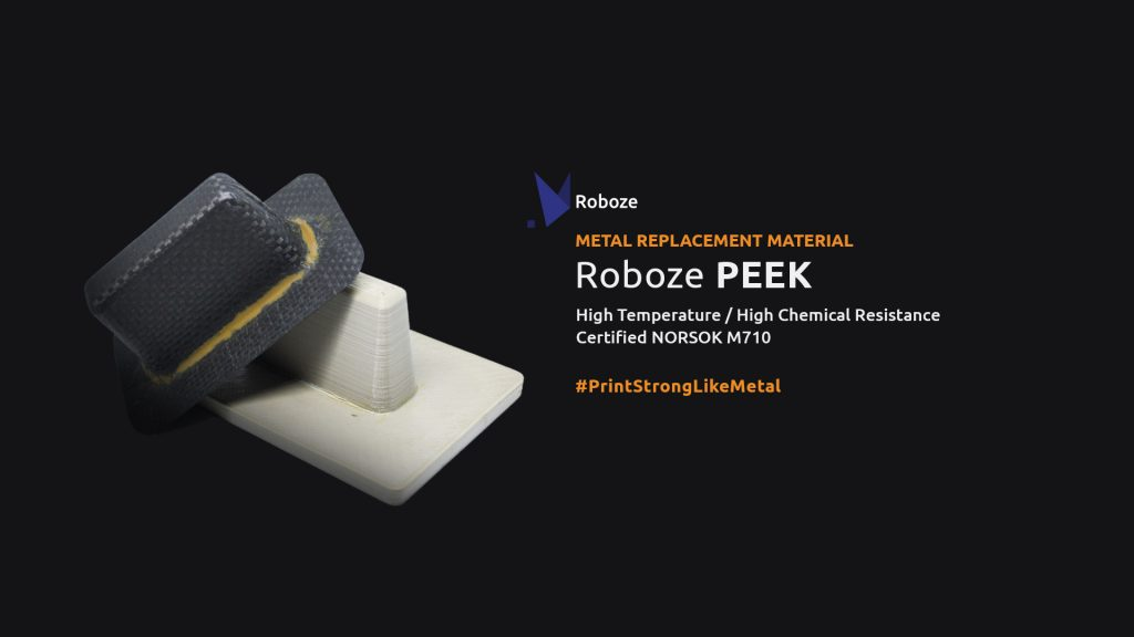 The ROBOZE PEEK material. Image via Roboze.