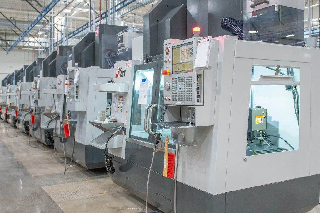 CNC machines inside Protolabs' facility in Brooklyn Park, Minnesota. Photo via Protolabs