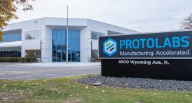 Protolabs' CNC machining facility in Brooklyn Park, Minnesota. Photo via Protolabs