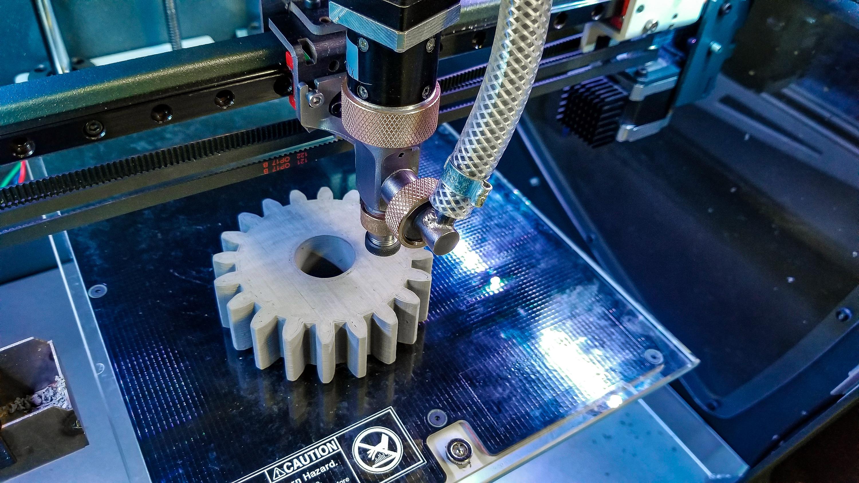 A 3D printed cog made on Rapidia. Image via Rapidia.