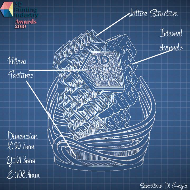 Sebastiano Di Grazia trophy design.
