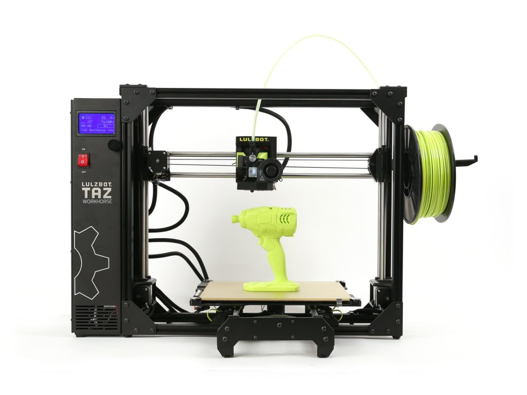 The Lulzbot TAZ Workhouse 3D printer. Photo via Aleph Objects.