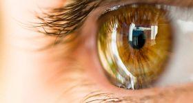 A close-up of the human cornea. Photo via iStock.
