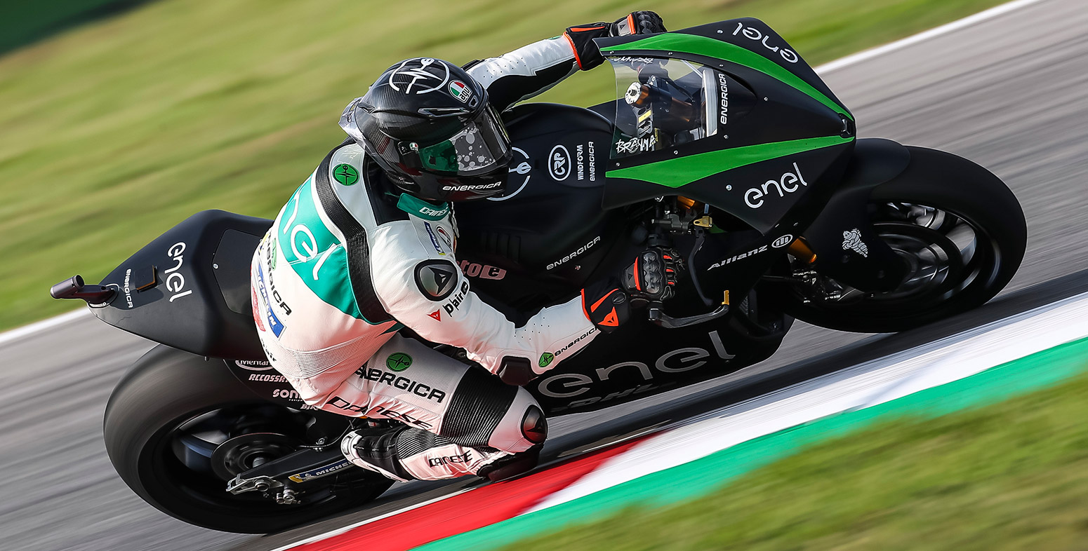 The Energica Corsa electric bike. Image via Energica.