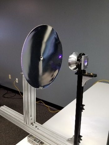 nScrypt's 3D printed 30cm tri-use dish antenna. Photo via nScrypt.