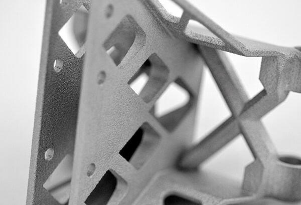 A 3D printed metal part inspected by the PrintRite3D platform. Photo via Sigma Labs.