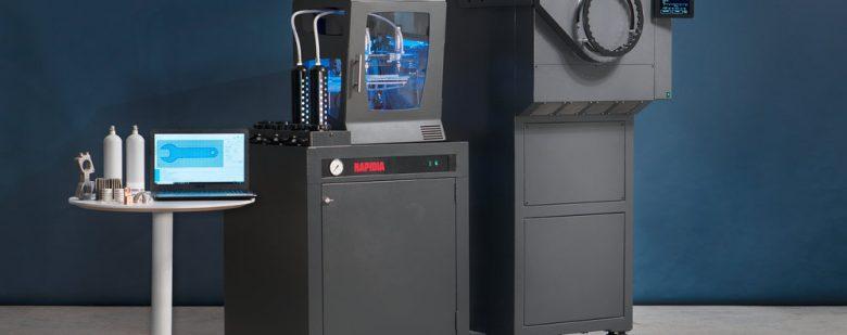 The Rapidia metal 3D system, printer and furnace. Image via Rapidia.
