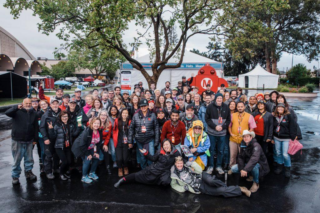Attendees of Maker Faire Bay Area 2019. Photo via Maker Media