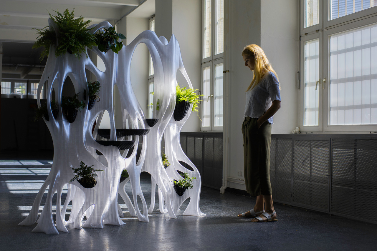 The 3D printed BANYAN ECO WALL by BigRep. Image via BigRep.