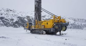 An autonomous electric 351 PitViper drill by Epiroc at the Aitik mine in Sweden. Image via Epiroc.