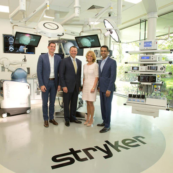 Dylan Crotty, President, Instruments; Spencer Stiles, Group President, Instruments, Neurotechnology & Spine; Mary Buckley, Executive Director, IDA Ireland; Viju Menon, Group President, Global Quality and Operations Photo via IDA Ireland