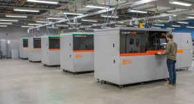 Concept Laser DMLS machines at Protolabs. Photo via Protolabs