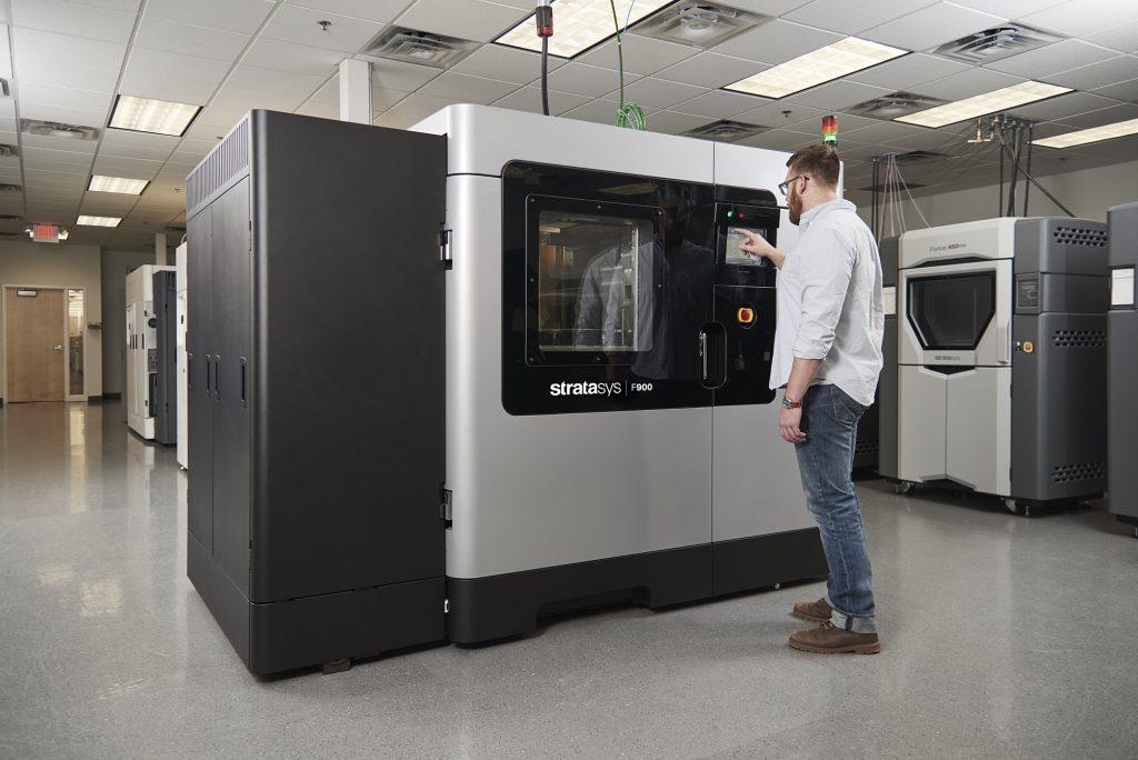 The F900 3D printer from Stratasys. Photo via Stratasys.