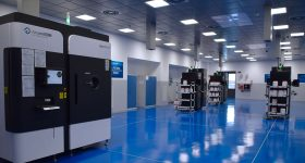 Arcam machines at the Avio Aero, a GE Aviation company, additive manufacturing factory in Cameri, Italy. Photo via Avio Aero.