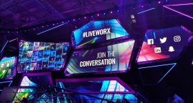 Inside PTC's LIVEWORX 2019 user conference in Boston's Seaport District. Photo by Dayton Horvath
