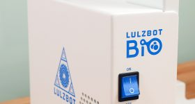 A first glimpse of the LulzBot Bio 3D printer. Photo via Aleph Objects