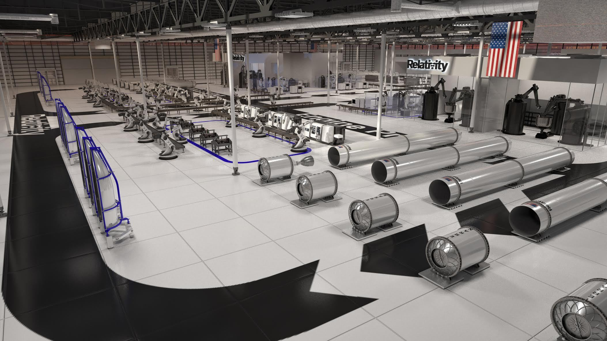 Rendering of Relativity's autonomous rocket factory at NASA Stennis Space Center in Mississippi. Image via Relativity Space/Business Wire