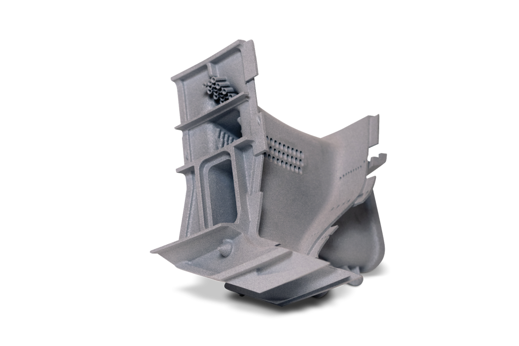 SLS 3D printed ductwork created by 3D Systems On Demand. Photo via 3D Systems
