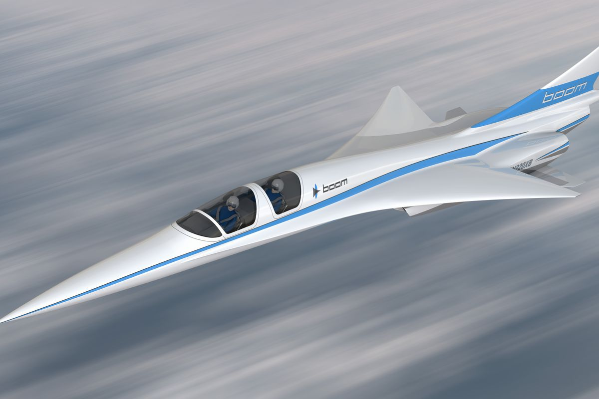 The XB-1 supersonic aircraft. Image via Boom Supersonic.