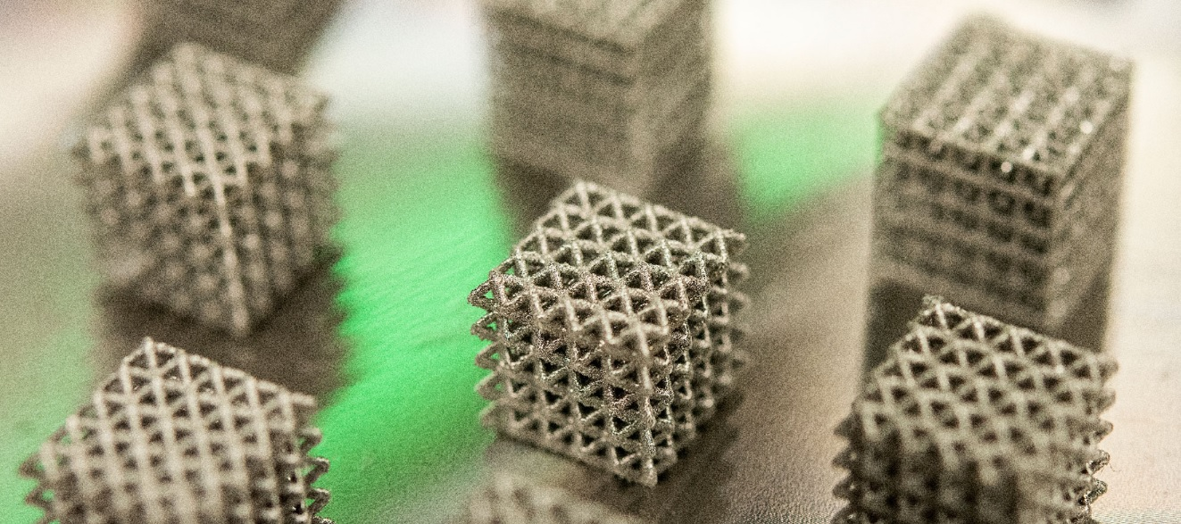 3D printed structures. Photo via UNT.