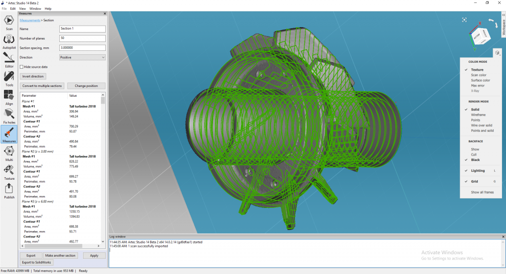 Scan to CAD with Artec Studio 14. Image via Artec 3D