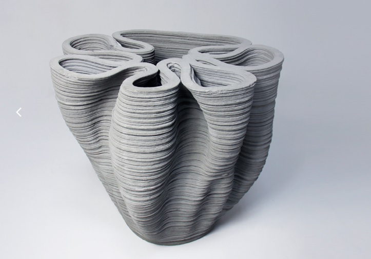 A 3D printed concrete structure. Photo via Concreative.
