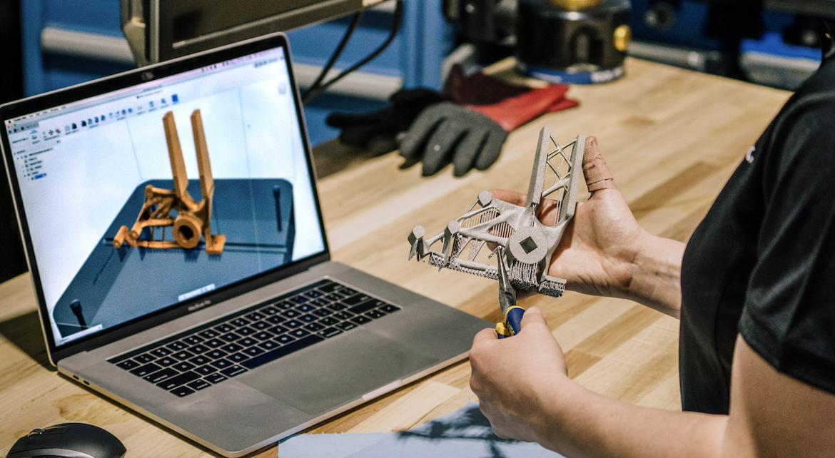 A 3D model designed in Fusion 360. Image via Autodesk.