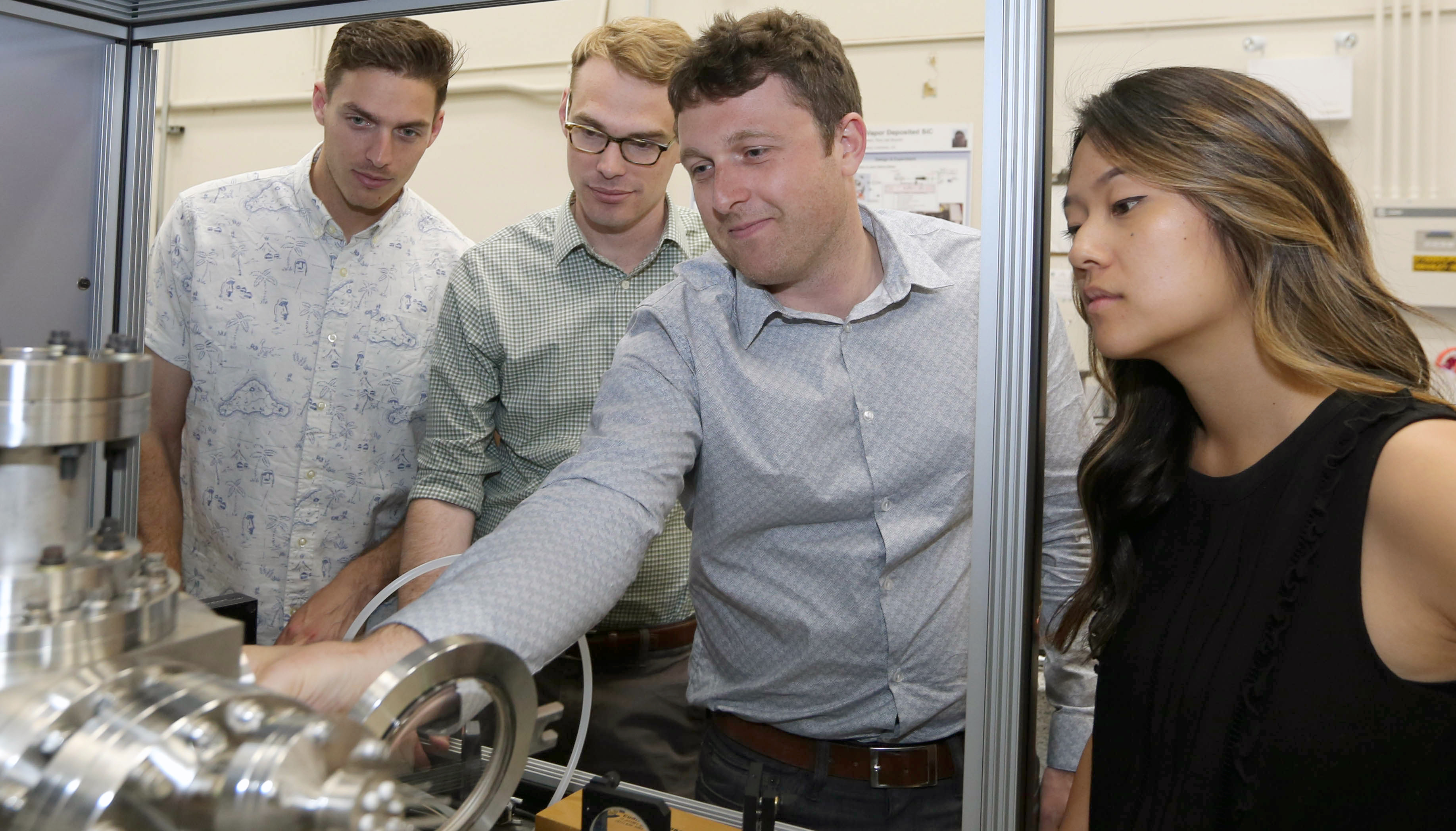 Lawrence Livermore National Laboratory researchers (from left) Phil Depond, Nick Calta, Aiden Martin and Jenny Wang. Photo via LLNL.