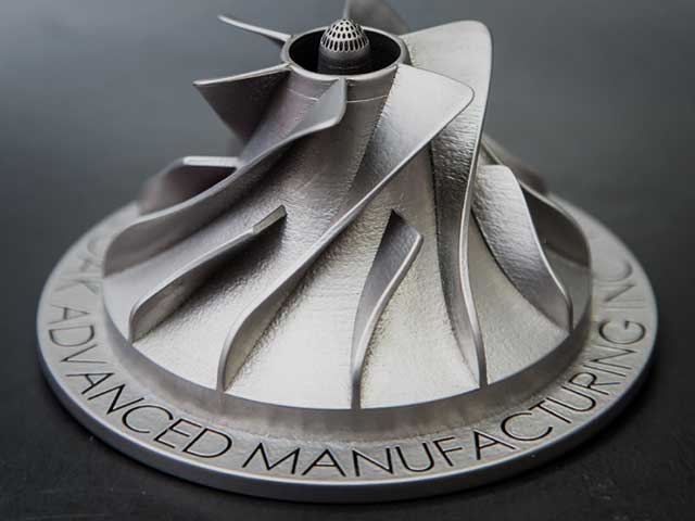 A metal 3D printed component post-processed by Burloak Technologies. Image via Burloak Technologies.