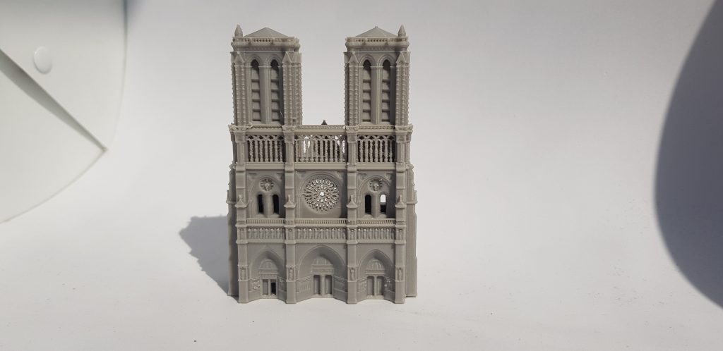 Notre Dame model replica 3D printed on the FlashForge Adventurer 3.