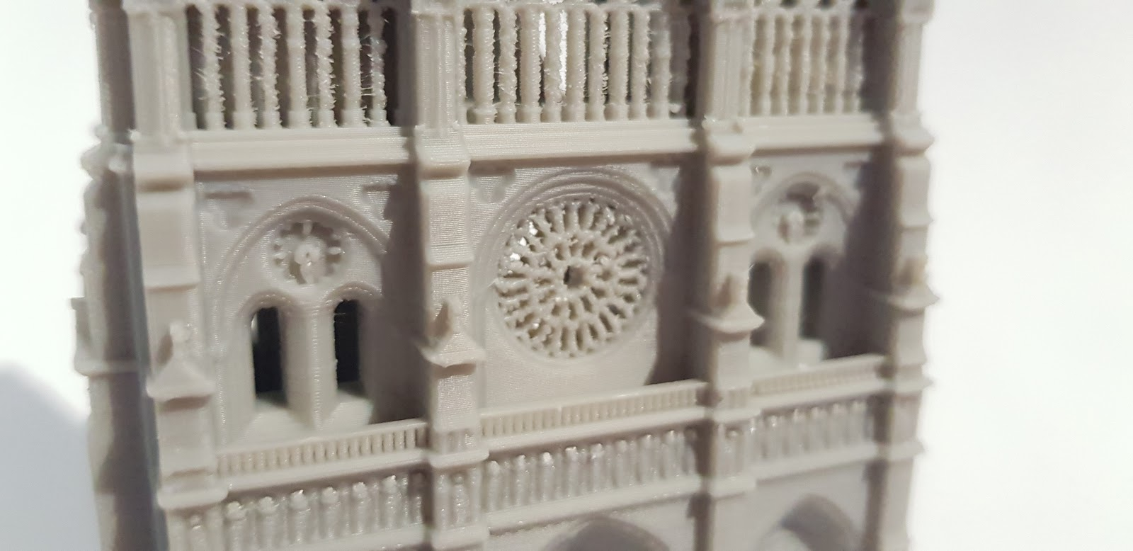 The 3D printed Notre Dame model.