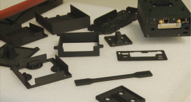 Drone components 3D printed using Carbon PA. Photo via Roboze.