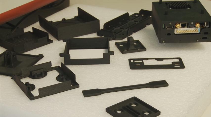 Drone components 3D printed using Carbon PA. Photo via Roboze.
