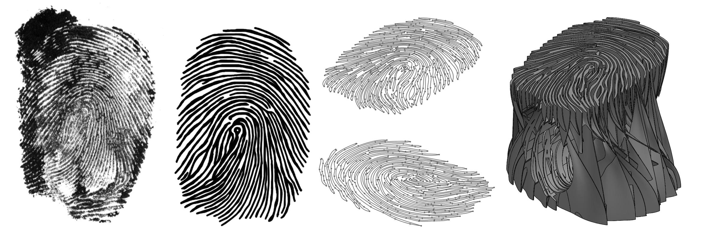 Models of the fingerprint and the stool. Image via BigRep.