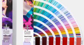 Pantone Formula Guide, printed on a coated paper. Image via Pantone.