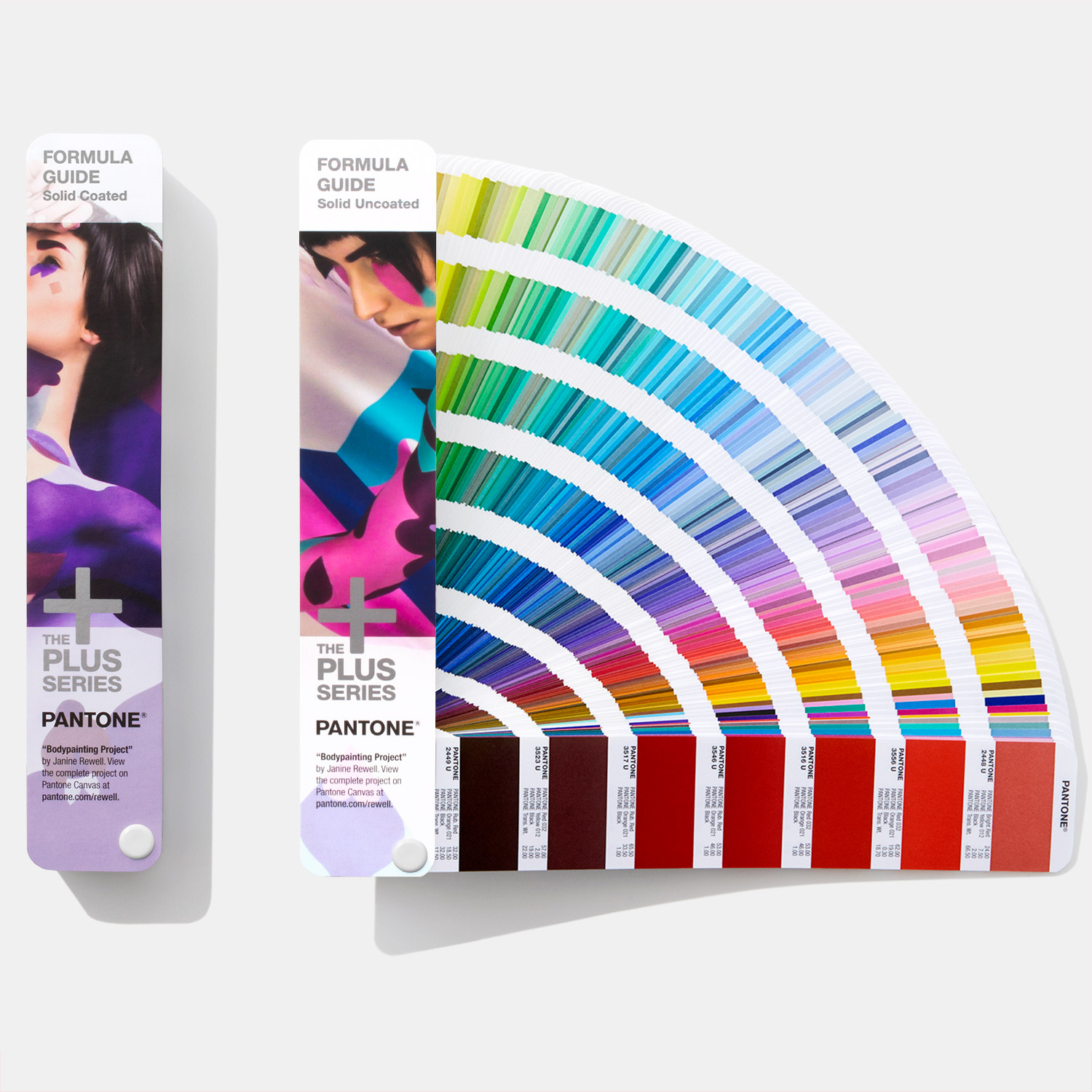 Pantone Formula Guide, printed on a coated paper. Image via Pantone.